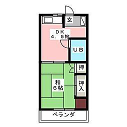 りすみコーポ[4階]の間取り