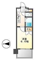 愛知県名古屋市昭和区阿由知通2丁目の賃貸マンションの間取り