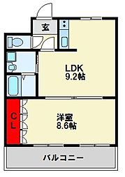 シュルテンハイムHiro[1階]の間取り