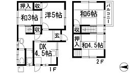 [一戸建] 大阪府池田市天神2丁目 の賃貸【/】の間取り