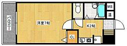 プレミール京町[4階]の間取り