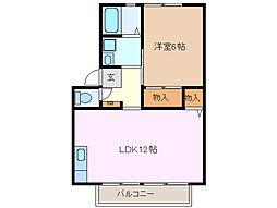 コリーナエスペランサ C棟[2階]の間取り