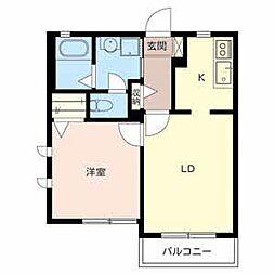 シャーメゾン諏訪ノ森[2階]の間取り