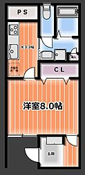 タツミビル[2階]の間取り