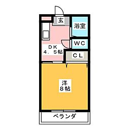 AIコーポ[1階]の間取り