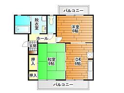 くすの木ハイツA棟[2階]の間取り