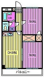 レジデンスラクダザカ[2階]の間取り