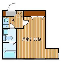 神奈川県横浜市中区元町5丁目の賃貸アパートの間取り