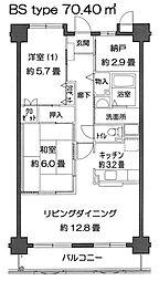 神奈川県横浜市旭区さちが丘144の賃貸マンションの間取り