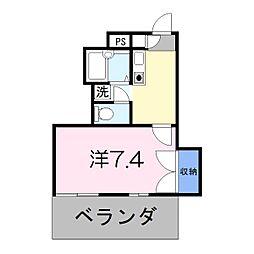ドリーム三条Ⅰ[3階]の間取り