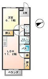 メゾンドフルール[1階]の間取り