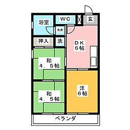 チヨダマンション小池[4階]の間取り