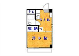GS氷川[2階]の間取り