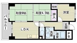松屋レジデンス関目[207号室]の間取り