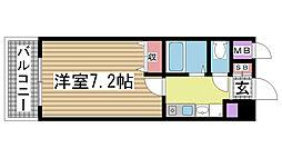 エスポワール三宮Ⅱ[4階]の間取り