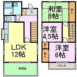 [一戸建] 愛知県知多市八幡字樹木 の賃貸【/】の間取り