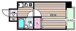 エスリード野田[7階]の間取り