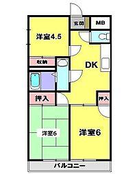 ドエルジュネ[3階]の間取り