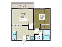 第二サマックス松村[2階]の間取り