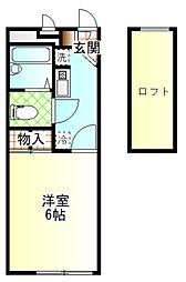コーポSAGAN[203号室]の間取り