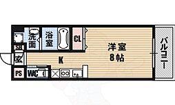 エグゼ大阪ベイ 6階ワンルームの間取り
