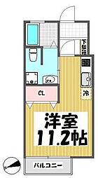 東京都世田谷区瀬田4丁目の賃貸アパートの間取り