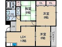 セブンハイム[2階]の間取り