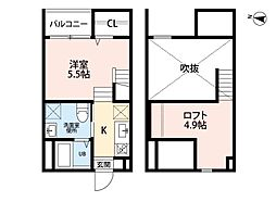 マーリエ名古屋南[2階]の間取り