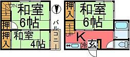 [一戸建] 東京都江戸川区松島4丁目 の賃貸【/】の間取り