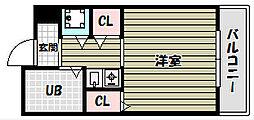 朝日プラザ河内長野デポーフロント[6階]の間取り