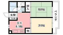ホープ愛宕1・2[1-102号室]の間取り