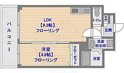 グランジュ大濠 3階1LDKの間取り