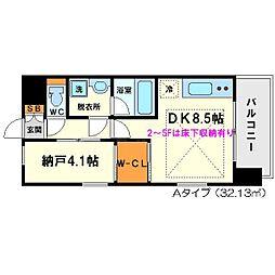 レジディア新大阪[10階]の間取り