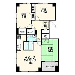 ?NEXT新札幌[3階]の間取り