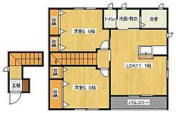 エクレール II番館[2階]の間取り