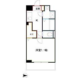 JR中央本線 吉祥寺駅 バス19分 南新川下車 徒歩6分の賃貸マンション 2階1Kの間取り
