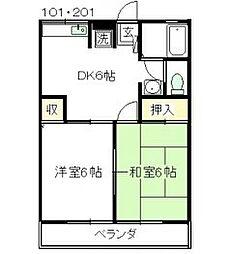 ブルーウッド[2階]の間取り
