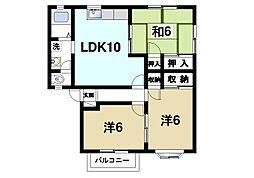 福寿ハイツII[2階]の間取り