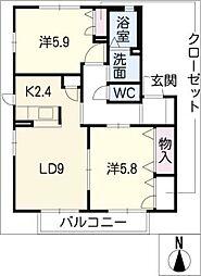 サニーヒルコマツE棟[2階]の間取り