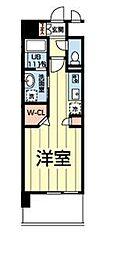 熊本電気鉄道 北熊本駅 徒歩5分の賃貸マンション 2階ワンルームの間取り