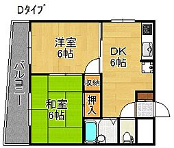 ローレルハイツ岡本[4階]の間取り
