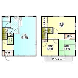 [テラスハウス] 神奈川県足柄上郡大井町上大井 の賃貸【/】の間取り