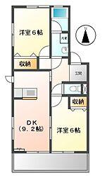エステートYOU[2階]の間取り