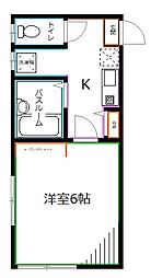 JR中央本線 西荻窪駅 徒歩5分の賃貸アパート 1階1Kの間取り
