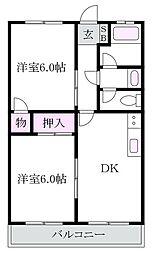 エクセル上井草[3階]の間取り
