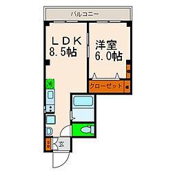 東京都墨田区八広2丁目の賃貸マンションの間取り