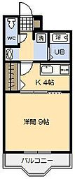 SUNNY SPOT 霧島[101号室]の間取り