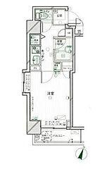 東京都新宿区箪笥町の賃貸マンションの間取り