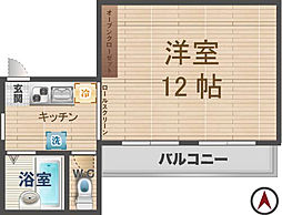 東京都杉並区西荻北2丁目の賃貸マンションの間取り