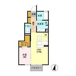 リッツハウスE−AKATSUKA[1階]の間取り